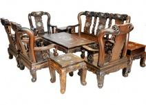 Salon gỗ cẩm lai tay 12